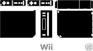 Nintendo-Wii-CHANGE-COLOUR-TO-BLACK-DECAL-WRAP-STICKER