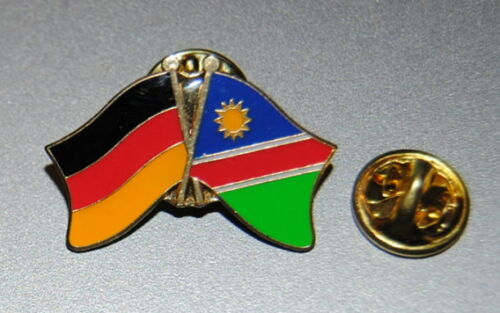 FREUNDSCHAFTSPIN 0100 PIN ANSTECKER DEUTSCHLAND//NAMIBIA FAHNE BUTTON METALL PINS