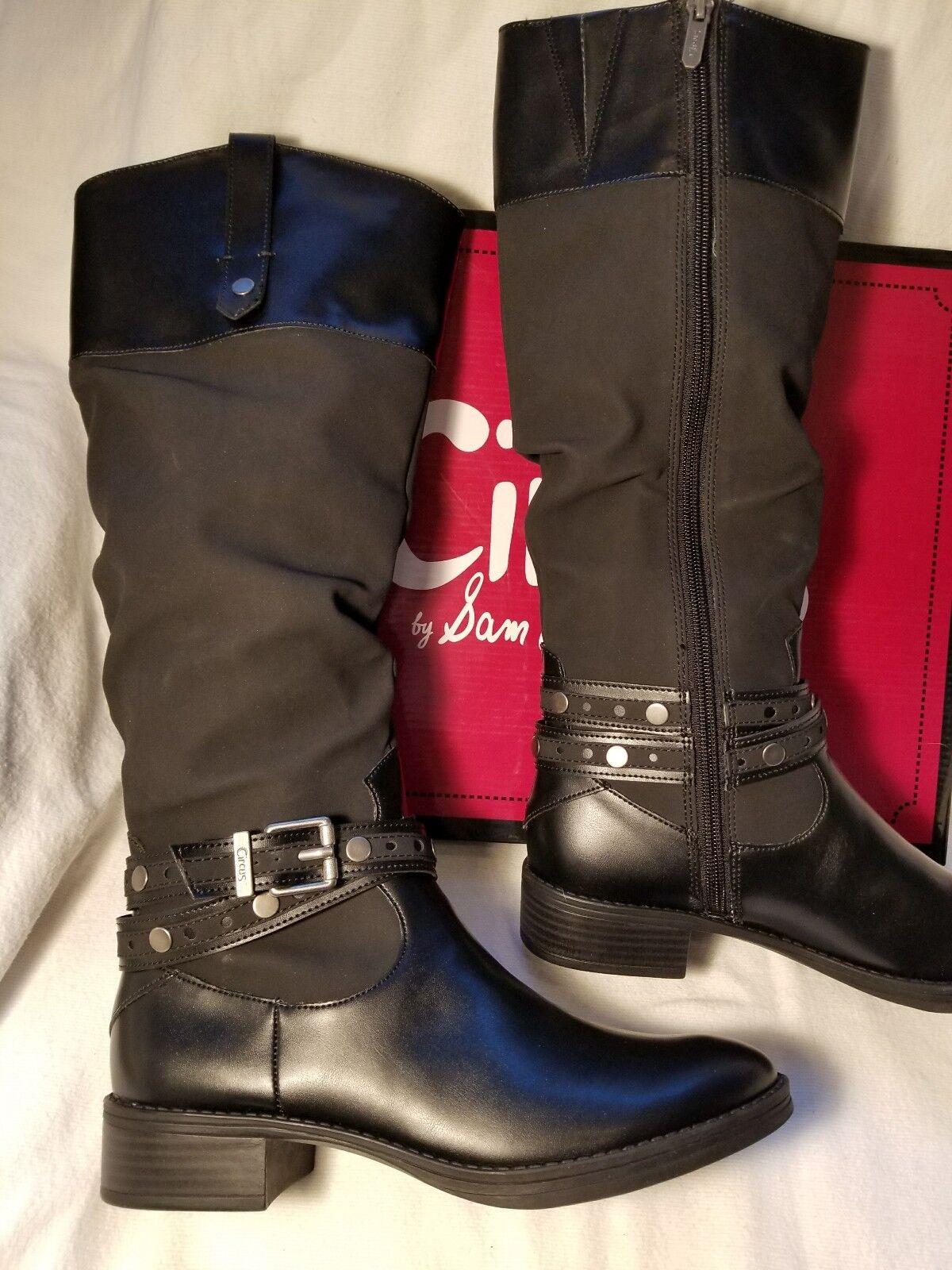 ee011a3574d85 Buy Circus Sam Edelman Paxton Black Leather Rider Knee High Block ...