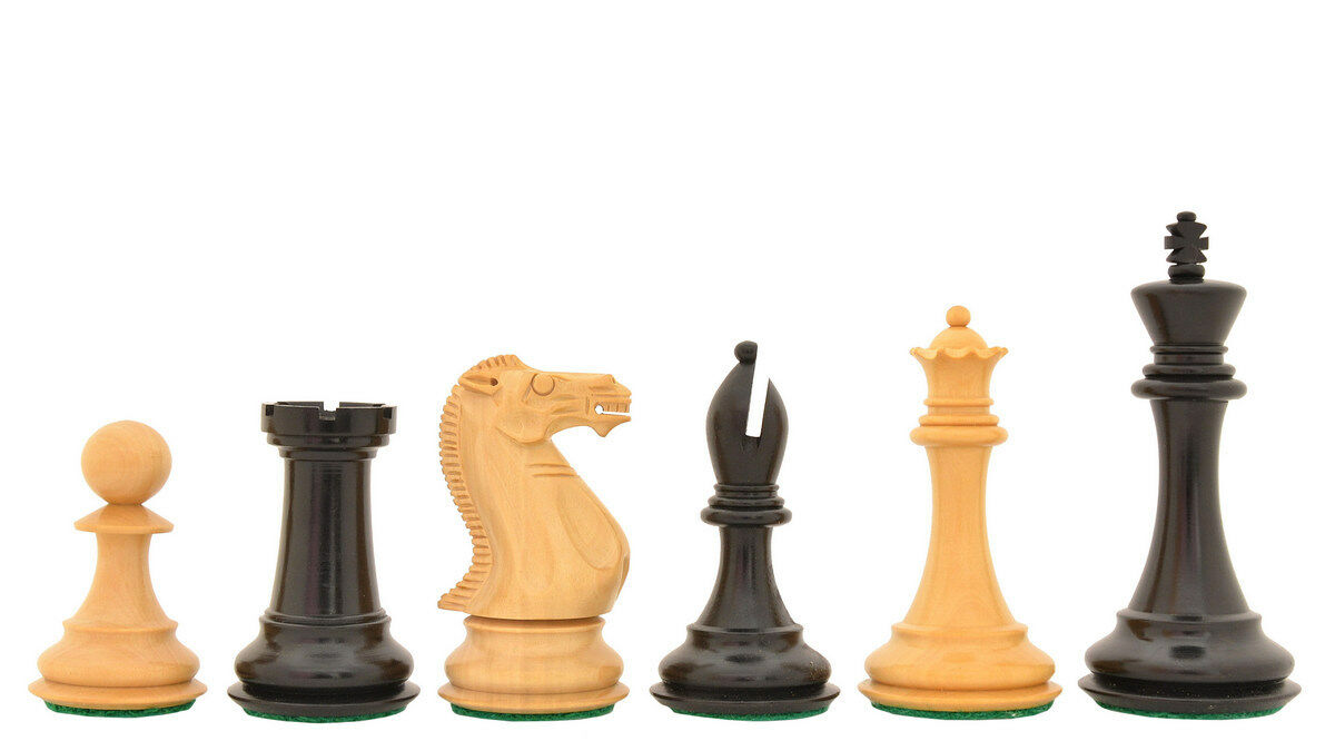 The Dominator Weighted Staunton Chess Pieces in Ebony   Box Wood