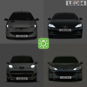 2 bulbs with white led position lights/position peugeot 206 207 307 407