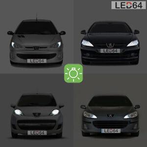 2 Bombillas Con LED Blanco Luces de Posición/Posición Peugeot 206 207 307 407