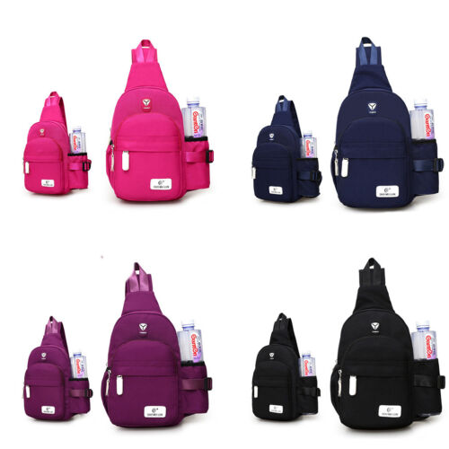 Nylon Shoulder Bag Travel Crossbody Daily Backpack Chest Sling Cycle Women Men mN0PO8nywv