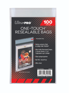 100-Ultra-Pro-One-Touch-Resealable-Bags-Sleeves-For-Card-Holders-Screwdowns