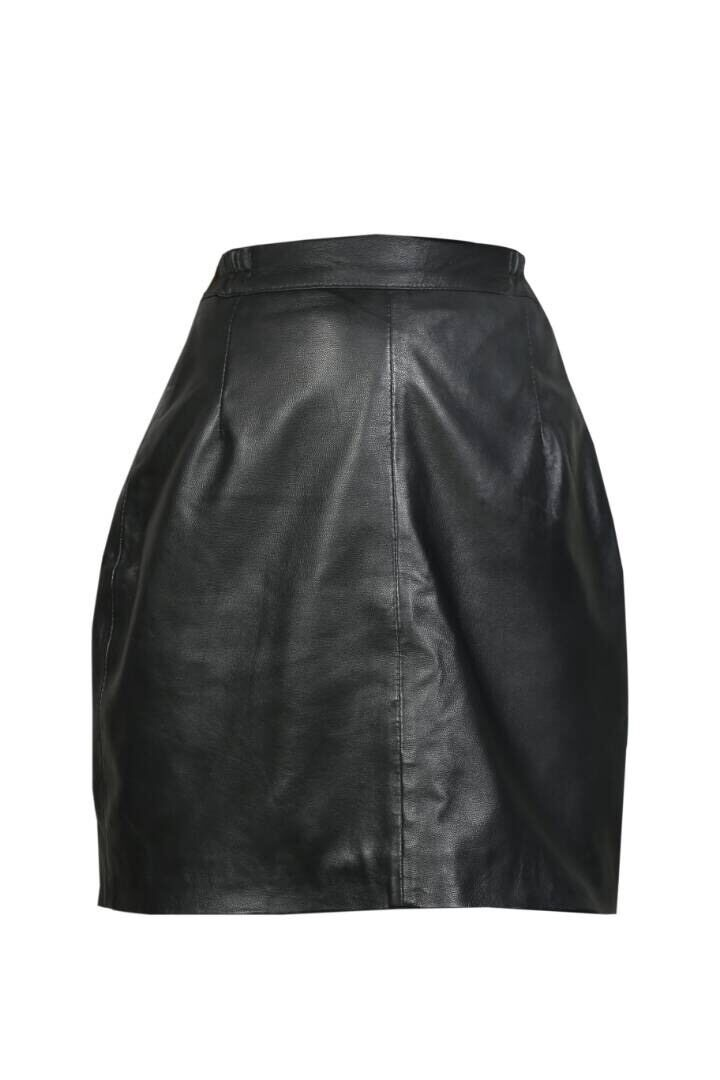 Brand New Genuine Real Sheep Nappa Leather Women Ladies Short Skirt Size 6-18