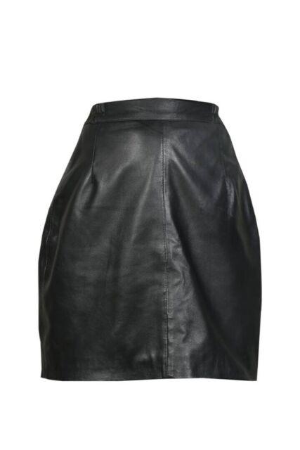 Brand New Genuine Real Sheep Nappa Leather Women Ladies Short Skirt Size 6-18