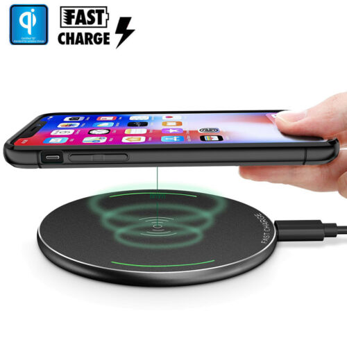 Wireless Fast QI Cellphone Charger Cordless Charging Pad Phone IphonesSamsung