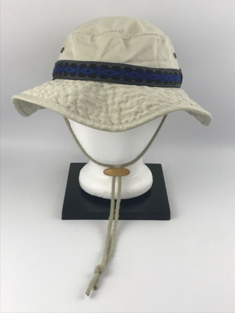 Dorfman Pacific Co. Medium Khaki Bucket Hat Band Cotton Wood Toggle Outdoor  DPC e47a5d7e85c3