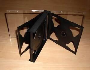 6-CD-Huellen-schwarz-durchsichtig-fuer-6-CDs-oder-DVDs-aufklappbar-Box-Case-Neu