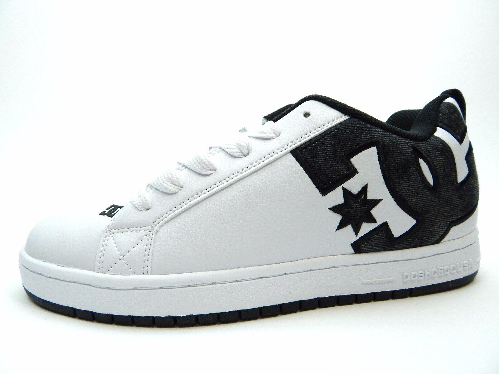DC COURT GRAFFIK SE blanc GREY noir 300927 hommes Chaussures SIZE 8
