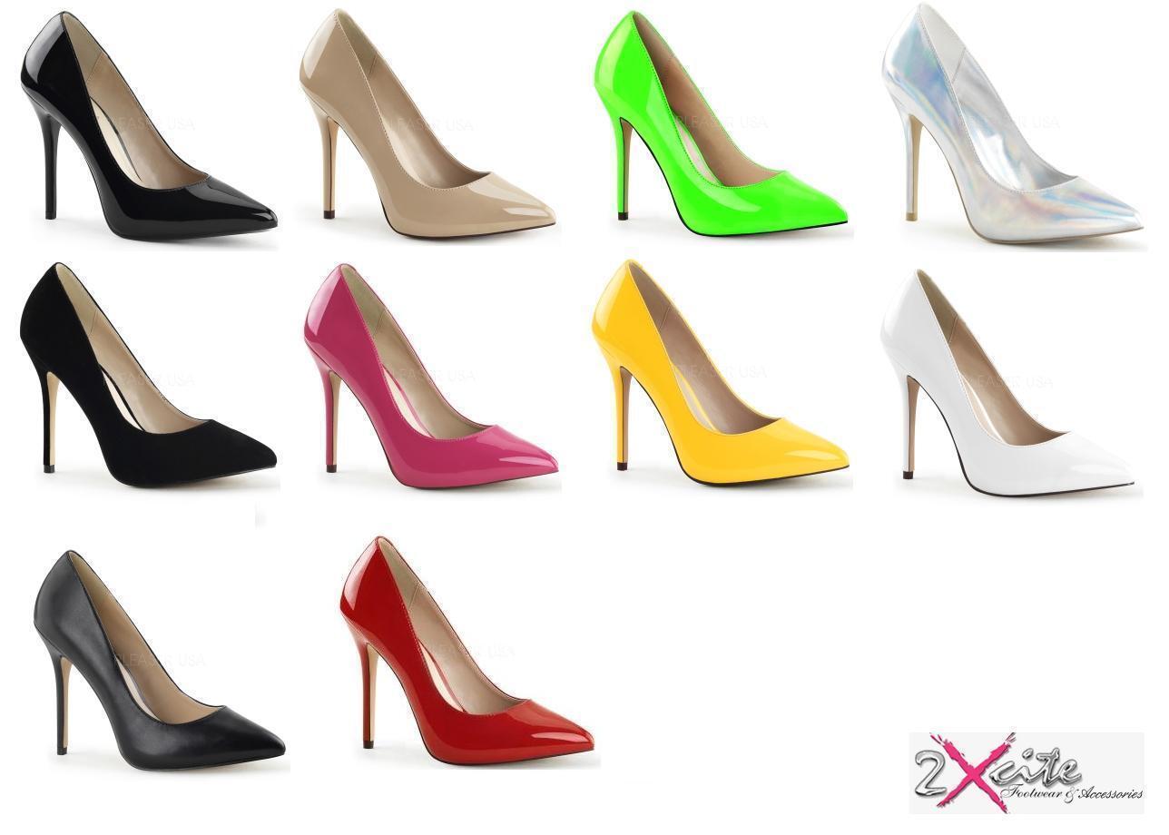 PLEASER amuser 20 stiletto 5  talon haut pointu cour chaussures fashion Tailles 3-13