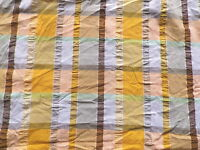 Vintage 1960's Cotton Seersucker Check Dress Making Fabric