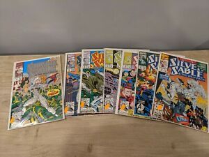 Silver Sable and the Wild Pack 1992 #1-14 Straight Run High Grade Lot bagged