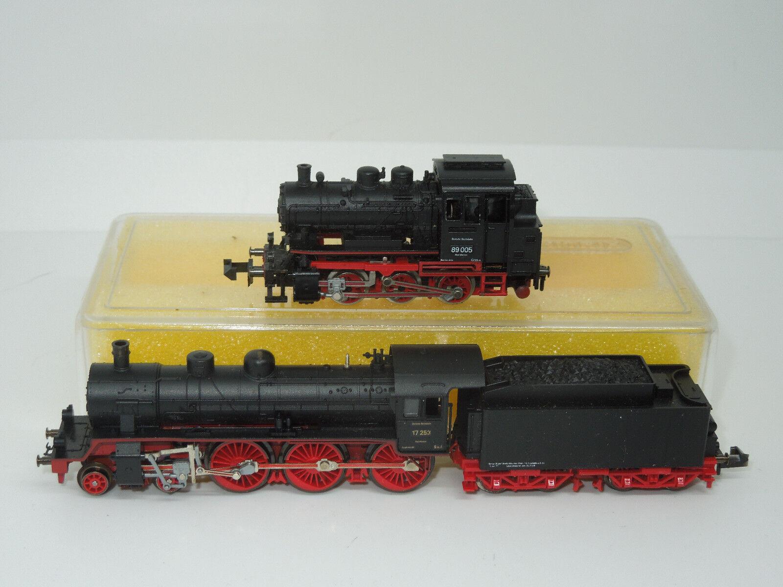 Minitrix pista n 2 máquinas de vapor 17 br y br 89