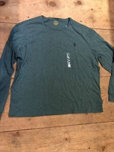 POLO-RALPH-LAUREN-Long-Sleeve-T-Shirt-Green-Cotton-Tee-XXL-NWT-49
