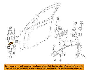 Image Is Loading Chevrolet GM OEM 99 04 Tracker Front Door