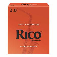 Rico Alto Saxophone Reeds, Strength 3, Box of 10