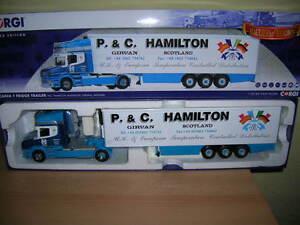 CORGI-SCANIA-T-FRIGO-TRAILER-P-amp-c-Hamilton-trasporto-Ayrshire-LIMITATO-1-50