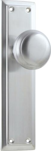 1 set satin chrome richmond door handles,round knob with backplates,200 x 50mm