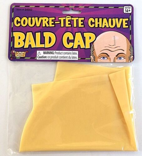 UNCLE FESTER BALD HEAD WIG CAP Old Man Rubber Skin Dr Evil Punk Addams Family