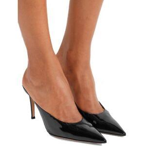 women ladies pointy toe high heel mules slipper stilettos