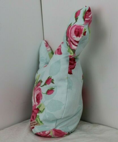 Handmade Chicken doorstop 1kg shabby chic cottage country pale blue rose print