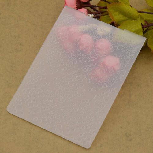 Transparent Embossing Folder Plastic Template DIY Scrapbook Album Paper Craft