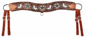 Showman Floral Tooled Tripping Collar