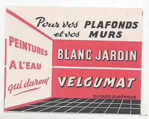 Buvard - Peintures Velgumat Blanc Jardin (réf. 67/28). 210q12ae-08000328-818361176