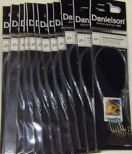 Danielson SZ 2 Octopus Snell Snelled Hooks 12 packs Snelled Hooks NEW & FRESH 7""