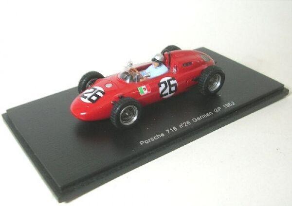 Porsche 718 Nº 26 N. vaccarella German GP 1962