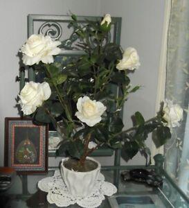 Rose Bush Pot Plant Artificial Flowers