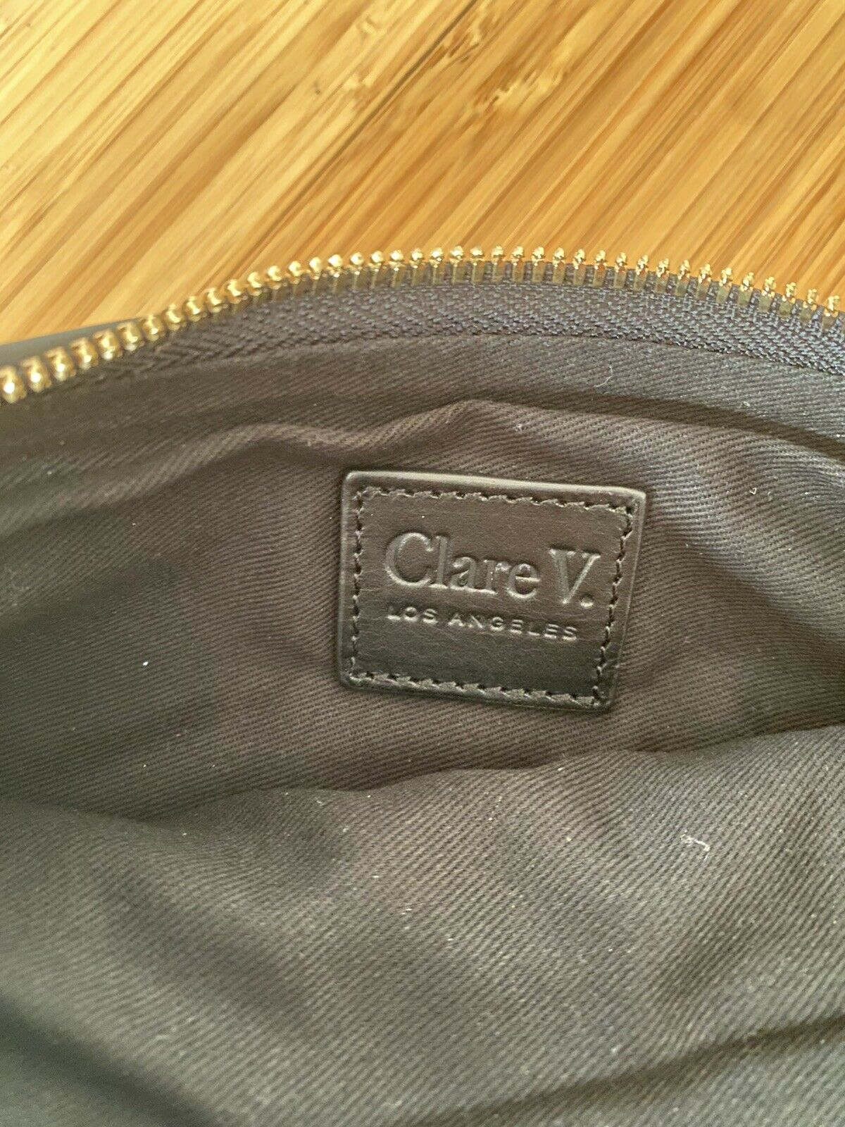 Claire V Woven Leather Clutch Bag - image 4