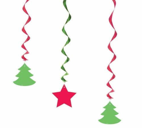 Fête de Noël décoration hanging swirl garland santa flocon de neige bonhomme de neige Fête