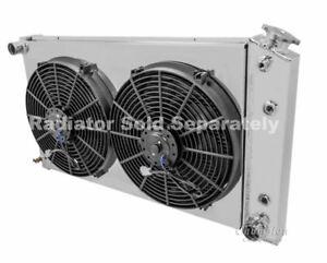 Caprice aluminum radiator fan shroud 2 14 electric fans 17h x image is loading caprice aluminum radiator fan shroud amp 2 14 sciox Choice Image