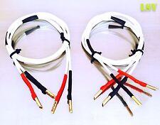 NUOVO BLACK Rhodium Twist Cavo Altoparlante 2 x 2 m SCELTA HI-FI 5 STELLE terminata