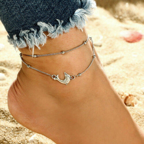 HOT Gold Silver Ankle Bracelet Women Anklet Adjustable Chain Beach Foot Jewelry