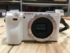 Appareil-photo-numerique-Sony-ILCE-6000-blanc-avec-2-batteries-sans-chargeur