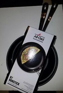 2 Pc New All Clad B1 Hard Anodized Nonstick 8 Inch 10 Inch