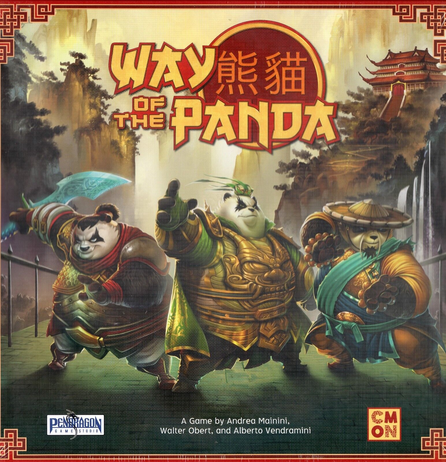 CMON and Pendragon: Way of the Panda boardgame Nuovo in shrink-wrap
