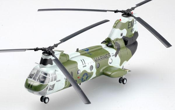 Leichte modell  37003 1   modell 72 ch-46 seaknight marines ch-46f modell mit hubschrauber 22fcb2