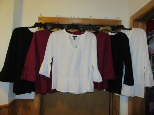 3/4 Angle Sleeve Blouses Gap 2XL,XL,L,M,Some Solid Color 100% cotton NWT