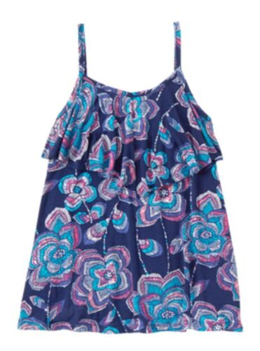New Gymboree Safari Twirl Pink Blue Floral Tank Top Shirt NWT Size 8