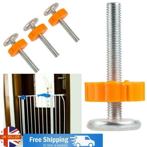 4x Baby Safety Stairs Gate Screws Bolts Spanner Fixings Spare Parts Pressure Fit