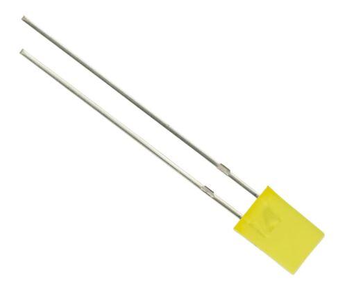 50 X Amarillo 5mm rectángulo Led difusa Lente
