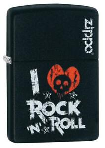 Zippo-I-Love-Rock-N-Roll-Lighter-Benzin-Sturm-Feuerzeug