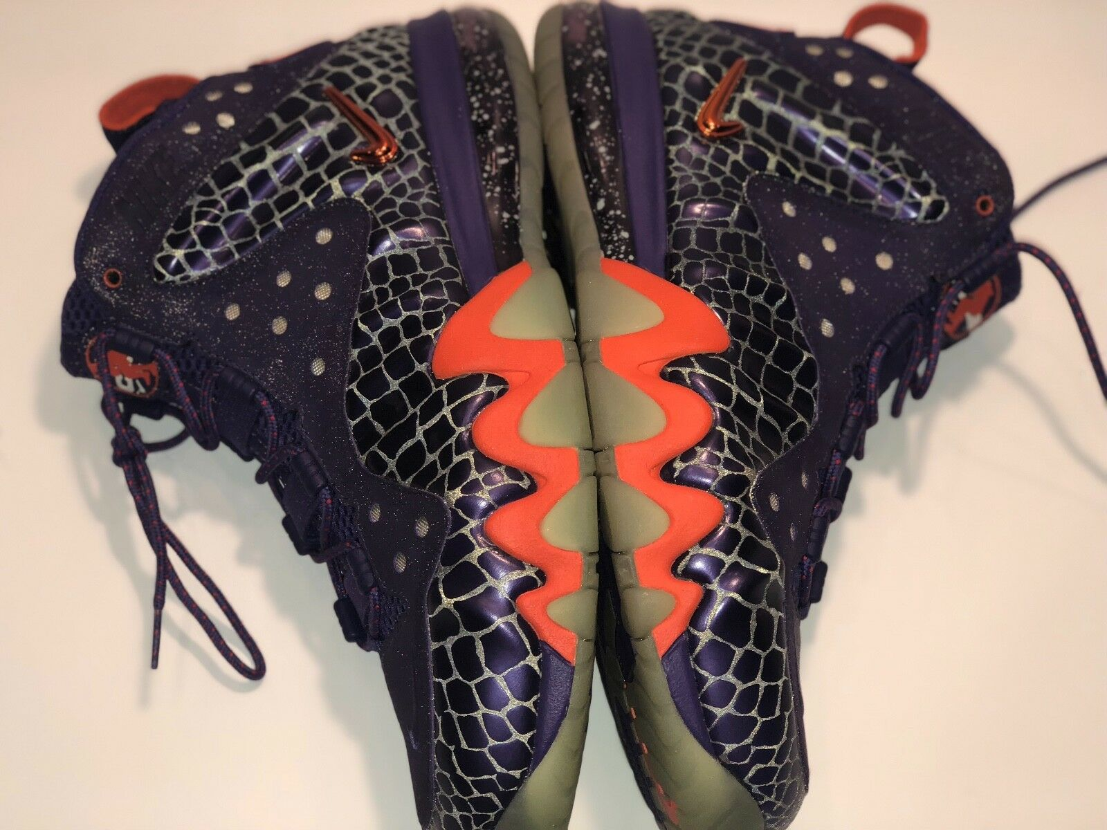 Nike Air Barkley Posite Max Chuckposite Sz 10 Suns Purple Orange  555097 581 New shoes for men and women, limited time discount