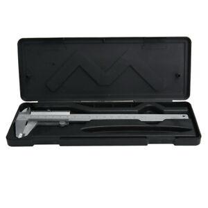 Steel-Vernier-Caliper-with-self-lock-6-034-0-150mm-Metal-Calipers-Gauge-Microm-Tool