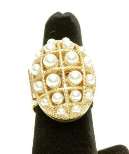 Vintage Ring Art Nouveau Ring Striking Ring Size 10 Elegant Ring Avon Ring Sterling Silver Ring Edwardian Ring Pearl Ring