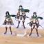 thumbnail 2 - Attack on Titan Action Figure Eren Mikasa Ackerman Levi Rivaille Figma PVC 13CM